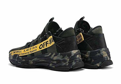 taille GLSHI de grande Vert 2018 respirantes Hommes de de confortables course mode Chaussures chaussures nouvelles tricotées OwO6xvr