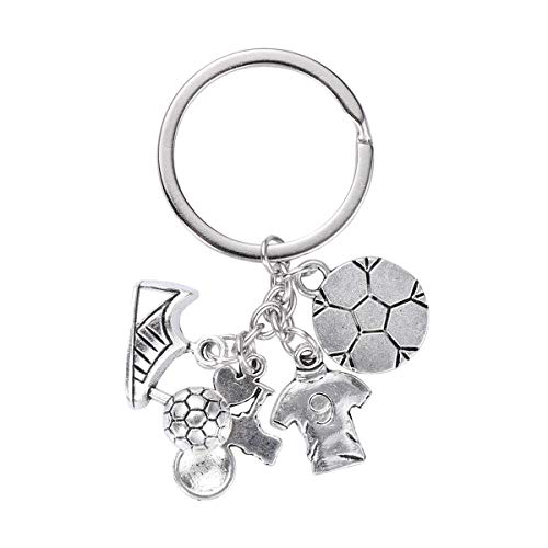 - Toyvian Football Keychains Metal Soccer Ball Sports Key Ring for Kids Boys Girls Birthday Party Favors Gifts School Carnival Prizes