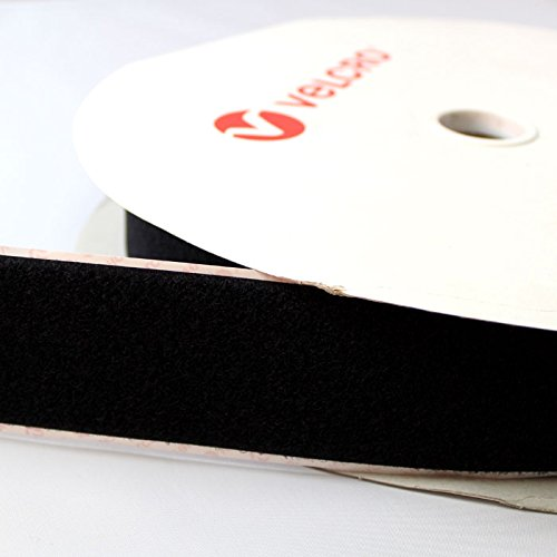 VELCRO® brand PS14 Self Adhesive Sticky Back Tape Strip One Sided LOOP Black 25mm - 5 mtr Hilltop Products Ltd