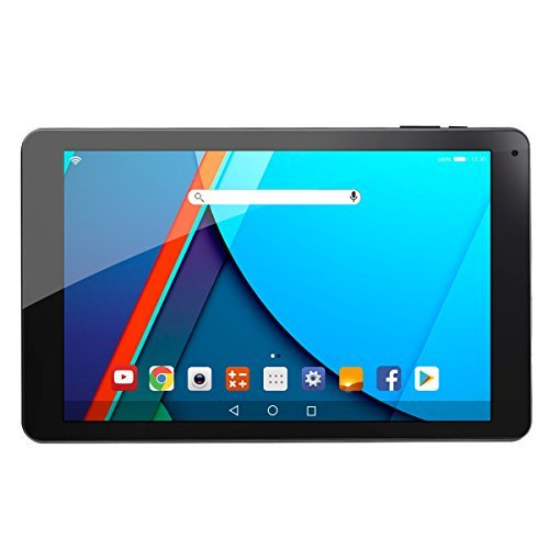 AOSON R101 10-inch Android 6.0 Marshmallow MTK8163 Quad Core Tablet PC 2GB RAM 16GB Internal Storage 1280x800 IPS HD Touch Screen Dual Camera Wi-Fi Bluetooth Black Rear by Aoson