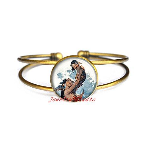 Price comparison product image Mermaid and Baby Bracelet,  Mermaid Bracelet,  Merbaby Bracelet,  Mermaid Bangle,  Mermaid jewelry, ,  baby shower-HZ00455