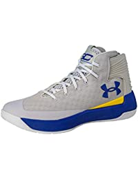 new style 24d92 e8aac Mens Curry 3 Basketball Shoe (10.5 M US, Grey Taxi Royal Blue