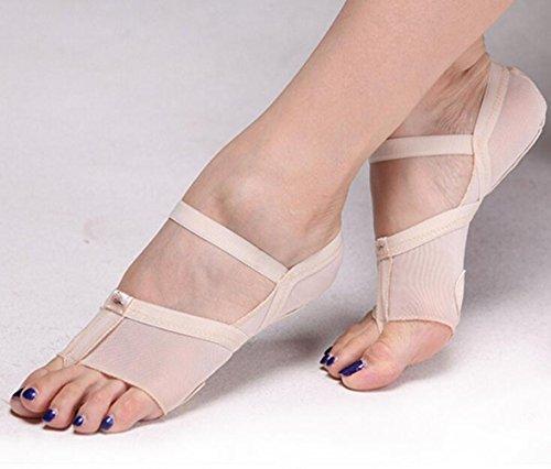 ANGTUO pancia/ballo di balletto Toe Pad pratica scarpe piede Protezione Calze ghette costume(1 paio),colore della pelle