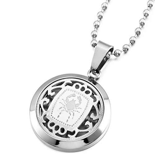Zodiac Stainless Steel Necklaces Pendants - 4