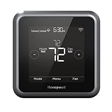 Honeywell RCHT8610WF2006 Lyric T5 Wi-Fi Smart 7 Day Programmable Touchscreen Thermostat with Geofencing, Works with Apple Home kit