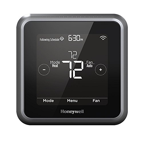 Honeywell RCHT8610WF2006 Lyric T5 Wi-Fi Smart 7 Day Programmable Touchscreen Thermostat with Geofencing, Works with Amazon Alexa