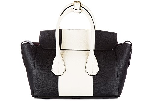 Bally bolso de mano para compras en piel mujer nuevo sommet negro