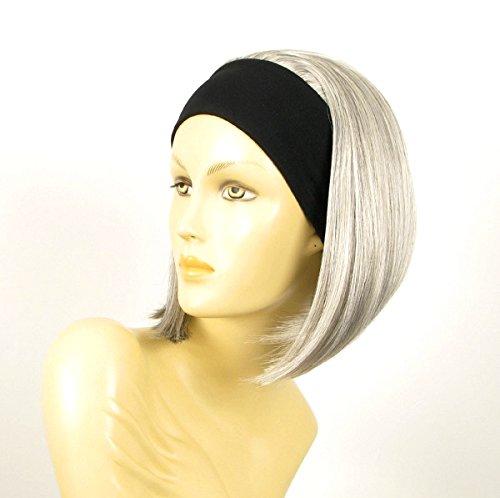 WIG UNIVERS Headband Wig Women Short Smooth Grey Ref DOROTHEE (Headband Wigs Short)