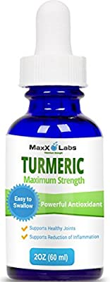 Turmeric Extract Liquid with Green Tea and Ginger - Tumeric Drops Provide Antioxidant, Pain Relief, Joint Support - High Potency Organic Turmeric Root - GMO & Gluten Free Curcumin Liquide: 60 Servings