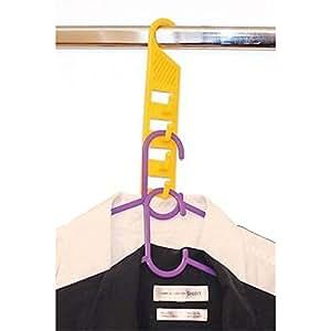 Práctico gancho Botones–3Unidades–para colgar perchas ahorra espacio–de plástico–Color: Amarillo–con fragancia fresca (