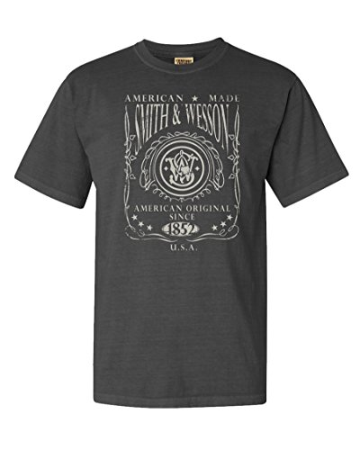 Smith & Wesson S&W American Made Label Tee - Officially Licensed Black