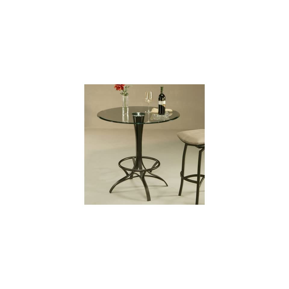Pastel Kayak Point Counter Height Pub Table with Glass Top