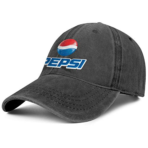 (Mens Womens Pepsi-Logo- Adjustable Retro Summer Travel Hats Trucker Washed Dad Hat Cap)