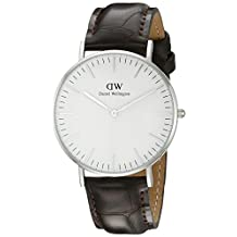 Daniel Wellington Women's 0610DW White/Brown Leather Watch