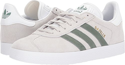 Adidas Originals Women's Gazelle W Sneaker, Pearl Grey/Trace Green/White, 8.5 M US