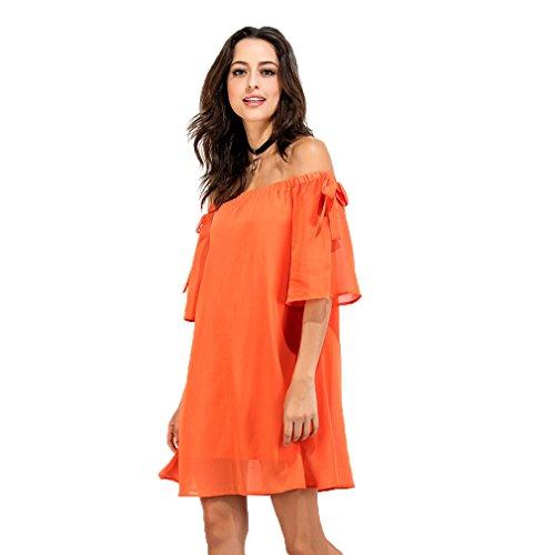 Fur Story 17B99 Femme Casual Mini Slash Neck Dress