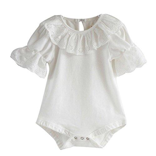 Girls Short Sleeve Ruffle Bodysuit product image