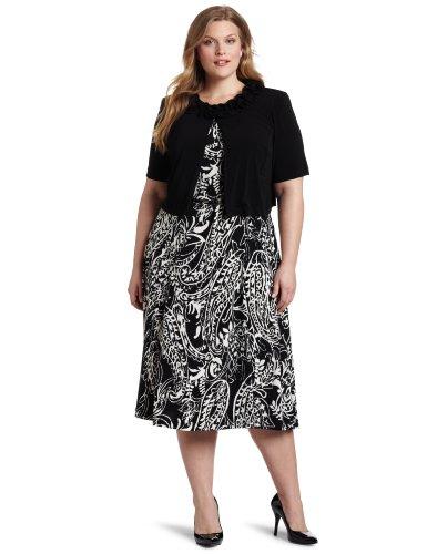 Jessica Howard Women's Plus-Size Ditsy Jacket Dress