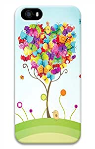 iPhone 5 5S Case Colorful Butterfly Funny Lovely Best Cool Customize iPhone 5 Cover