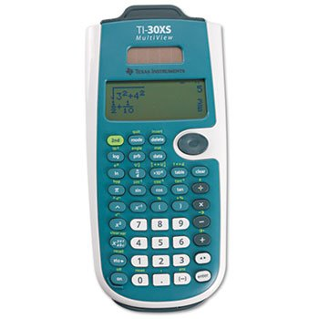 * TI-30XS MultiView Calculator, 16-Digit LCD
