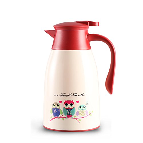 - ORITO Thermal Carafe Double Wall Vacuum Insulated Coffee Carafe Thermos Pot Hot Tea and Water Dispenser 34 Oz (1.0Liter)