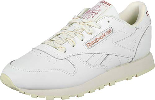 Blanc Leather Chaussures Reebok W Classic WAxqpIn1