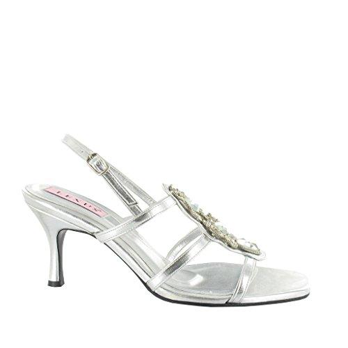 Sandalias Plata de mujer Silver vestir U P para LEXUS dzxqBd