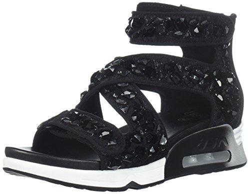 Ash Women's AS-Lips Stones Sneaker Black, 39 M EU (9 US) ()