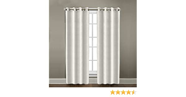 547201 Pearl Veratex Contemporary Style 100/% Linen Construction Made In The USA Living Room Grommet Window Panel Curtain 96 96 Inc