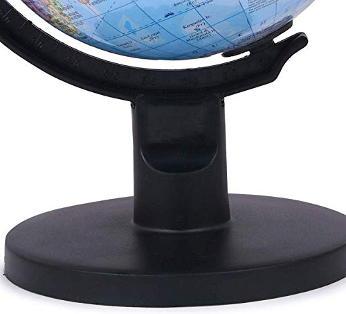 GeoKraft Educational Political 5 Inches Laminated Globe with Plastic Arc and Base / World Globe / Home Decor / Office Decor / Gift Item (Blue)