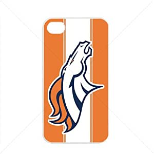 NFL American football Denver Broncos Fans Apple iPhone 4 / 4s TPU Soft Black or White case (White) by mcsharks