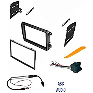 Discount ASC Double Din Car Stereo Radio Dash Kit Wire Harness and Antenna Adapter for VW Volkswagen: 12-15 Beetle 09-14 CC 07-14 Eos 10-14 Golf 06-14 GTI 06-15 Jetta 06-14 Passat 06-09 Rabbit 09-14 Tiguan