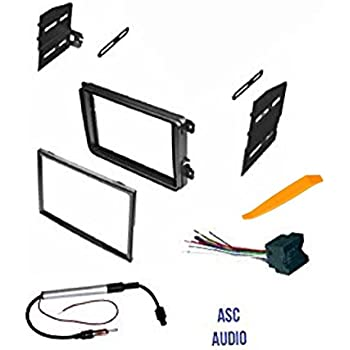 Amazon asc double din car stereo radio dash kit wire harness asc double din car stereo radio dash kit wire harness and antenna adapter for fandeluxe Choice Image