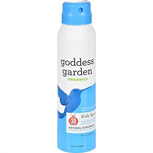 (Goddess Garden Kids Sport SPF 30 Natural Sunscreen, Continuous Spray, 3.4-Ounce by Goddess Garden)