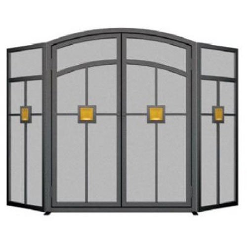 Panacea Products 15137 3-Panel Mission Fireplace Screen