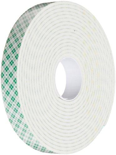 (3M 4008 Natural Polyurethane Double Coated Foam Tape, 0.75