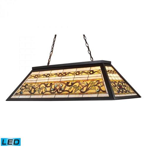 Elk Lighting 70023-4-LED Island Light, Tiffany Bronze