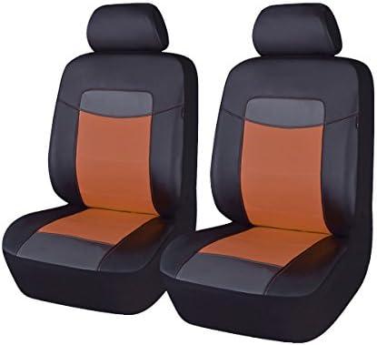 Front Pair Car Van Sand Beige Waterproof Universal Airbag Seat Covers UK Made
