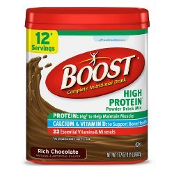 Boost High Protein Rich Chocolate Flavor 17.7 oz. Canister Powder, 12314171 – Case of 4
