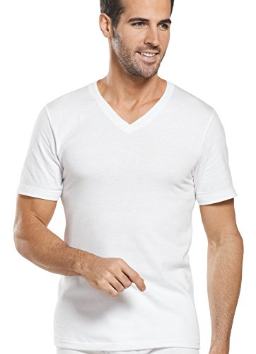 Jockey Men's T-Shirts Tall Man Classic V-Neck - 2 Pack, Diamond White, XLT