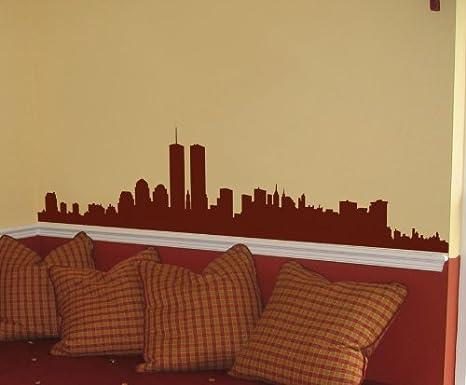 Amazon.com: Vinyl Wall Art Decal Sticker New York City Skyline World ...
