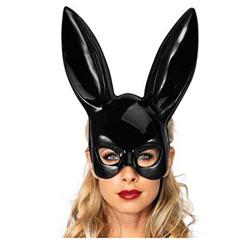 Mr.Macy Hot Sale Matte Easter Party Rabbit Ears Mask Half Face Masks Nightclub Bar Masquerade (Rabbit Ears For Sale)