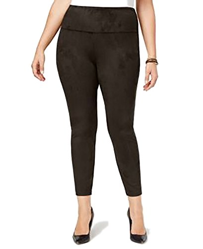 Style & Co. Womens Plus Flat Front Pull On Leggings Brown 20W