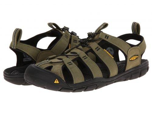 オペレータースマッシュと組むKeen(キーン) メンズ 男性用 シューズ 靴 サンダル フラット Clearwater CNX - Burnt Olive/Black [並行輸入品]