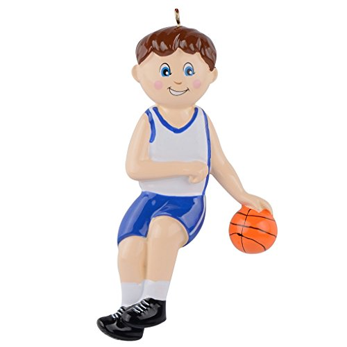 WorldWide Personalized Sports Ornament Christmas Decor (Basketball