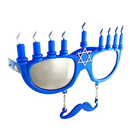 Costume Sunglasses Menorah Sun-Staches Party Favors UV400]()