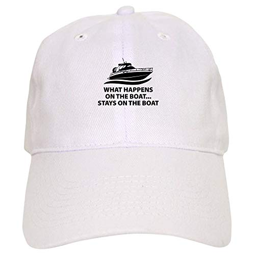 ea2433b61 Amazon.com: CafePress What Happens On The Boat Baseball Cap with ...