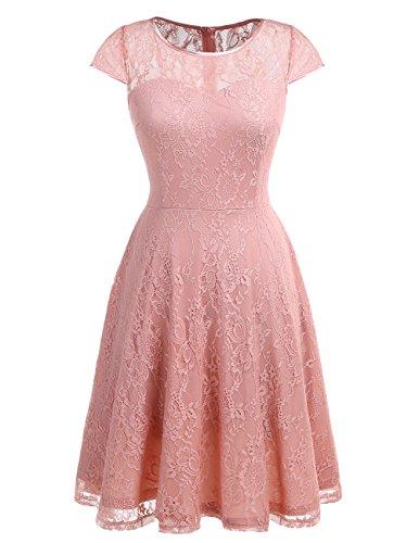 formal blush pink dress - 9