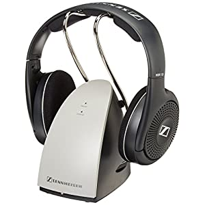 Sennheiser RS120 On-Ear Wireless RF Headphones with Charging Dock (Renewed)