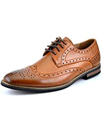 Bruno Marc Moda Italy Prince Men's Classic Modern Oxford Wingtip Lace Dress Shoes